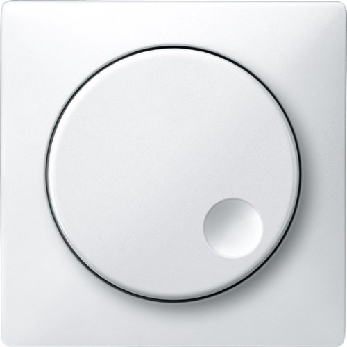 Price comparison product image Merten MEG5250-4019 Central plate with rotary knob for new Merten rotary dimmer inserts, polar white, System Design
