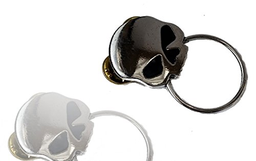 Daywalker Bikestuff Half Skull (Schwarze Augen) Brillen Halter Pin • Chopper Rocker Bobber Biker Weste Kutte