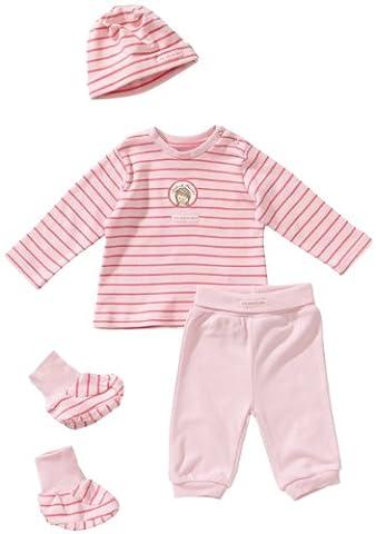 SALT AND PEPPER Baby - Mädchen Bekleidungsset Gestreift 3528205, Gr. 56, Rosa (rose)