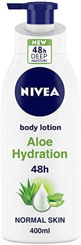 NIVEA Body Lotion, Aloe Hydration, with Aloe Vera, for Men & Women, 40