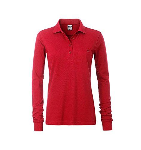 Preisvergleich Produktbild Ladies' Workwear Polo Pocket Longsleeve in red Größe: S
