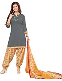 a66593e381 Miraan Unstitched Cotton Patiyala Suit / Dress Material for Women | Party  wear | Free…