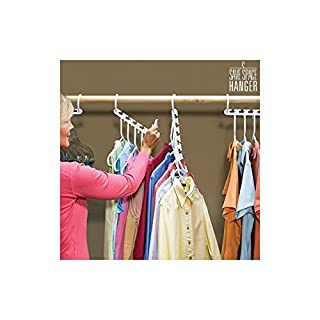 Magic Hanger, Set of 8 Space-Saving Coat Hangers, As Seen On TV, White