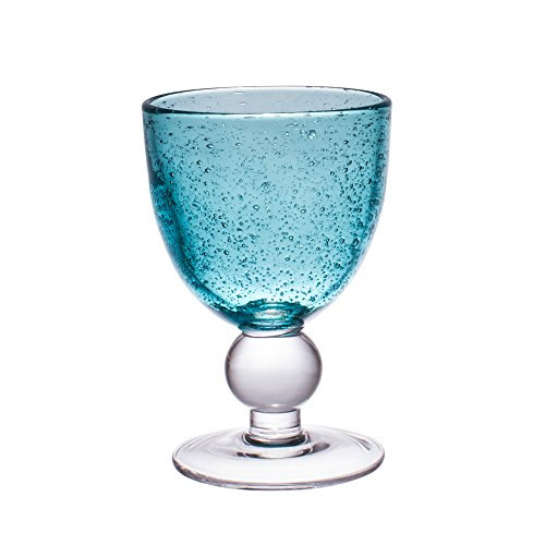 Table Passion - Verre a pied 28cl artisan bulle lagon (lot de 2)