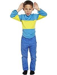 Childrens Blue & Yellow Striped Horrid Henry Jumper Book Week Fancy Dress