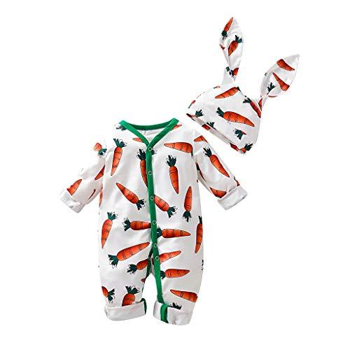 Baby Kostüm Rabatt - Neugeborenes Baby Set Säugling Jungen Mädchen Strampler Overall + Kaninchen Ohren Hut Set Baby Cosplay Kostüm
