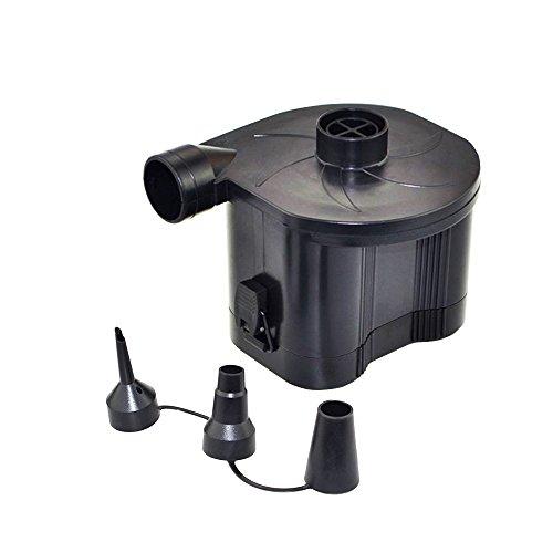 OBEST NIU Wireless Elektrische Luftpumpe mit 3 Luftdüse 3 in 1 Automatische aufblasbare Tragbare Pumpe Bootspumpe für Luftmatratzen, Schlauchboote, Gästebetten, oder Camping–Automatisches und schnelles Auf- und Abpumpen(4 d Akku, nicht inbegriffen)