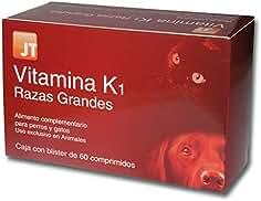 JTPharma 163150 Vitamina K1 Razas Grandes - 60 Comprimidos