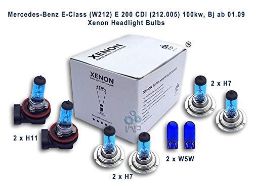 Ampoules de phares xénon lumineux| DIY, Kit simple d'utilisation | Compatible H7,H7,H11,W5W Plus ampoules éclairage latéral gratuites W5W