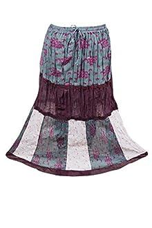 a34e385e9a Indiatrendzs Women Boho Skirts Cotton Bohemian Summer Long Skirt
