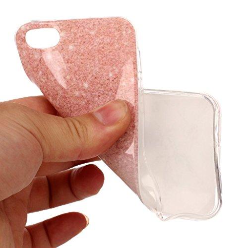 Hülle für Apple iPhone SE 5S / 5 , IJIA Marmor Muster Rosa Weiße Allmähliche Veränderung TPU Weich Silikon Handyhülle Stoßkasten Cover Schutzhülle Handytasche Schale Case Tasche für Apple iPhone SE 5S MM18