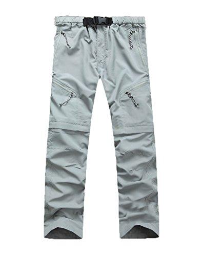 Echinodon Herren Zipp-Off Hose Schnelltrockende Outdoorhose Trekkinghose  Wanderhose Sommerhose Funktionshose Grau AsienXXL 97b8f7ff32
