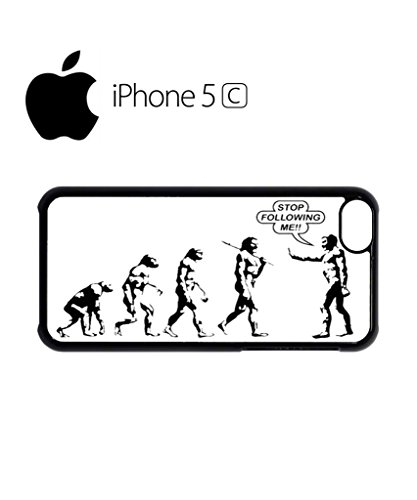Stop Following Me Evolution Funny Hipster Swag Mobile Phone Case Back Cover Hülle Weiß Schwarz for iPhone 5c White Weiß