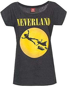Peter Pan Neverland Seattle Camiseta Mujer Gris oscuro