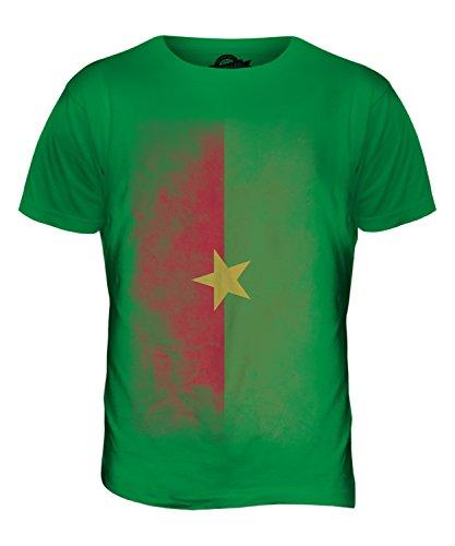 CandyMix Burkina Faso Verblichen Flagge Herren T Shirt Grün