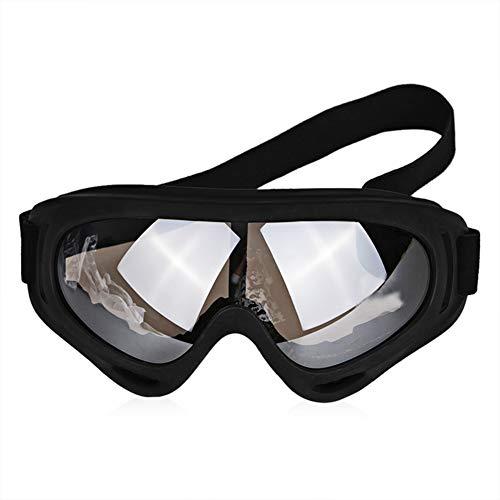 Motorrad Racing Brille Getönten Dirt Bike Motorrad Moto Brille Männer Brille Objektiv Staub Gafas Sport Schwarz Off-Road (Bike Brillen Getönte Dirt)