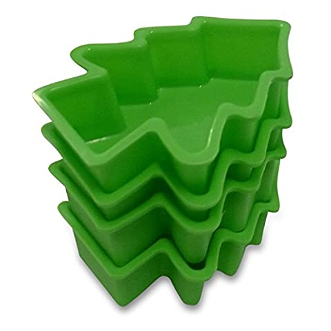 Cuisine Haven Moules en silicone, tree-green, 4