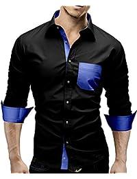 MERISH Hommes Chemise d'Affaires Classique Manches Longues SlimFit Bicolore adapté pour toutes les occasions Modell 45