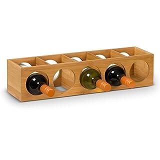 Weinregal VINUM aus Bambus, Weinflaschenhalter, Flaschenregal, Weinständer, Maße: 14x12x54 cm