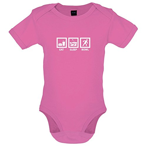 Dressdown Eat Sleep Bowl - Lustiger Baby-Body - Bubble-Gum-Pink - 12 bis 18 Monate