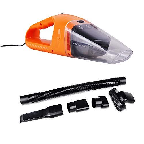 LIDAUTO Mini aspirateur de Voiture 120W Haute Puissance 12V Sec et Humide,Orange