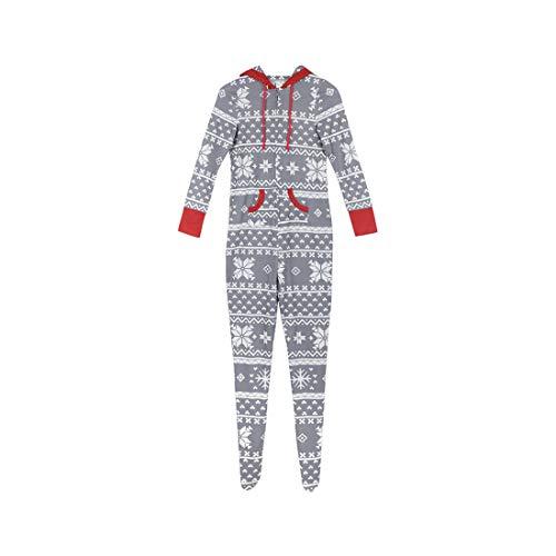 Zhhlaixing Familien-passende Weihnachtspyjamas Freizeitkleidung Mama Papa Kinder Hoodies Nachtwäsche EIN Stück Footed Loungewear -