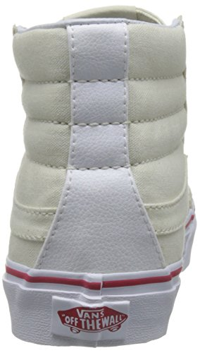Vans Ua Sk8-Hi Slim, Scarpe da Ginnastica Alte Donna Avorio (Leather Canvas Bone/true White)