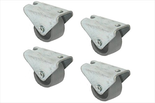 Ruote 25 millimetri di nylon ruote fisse - 4 pezzi - basso livello caster - pesanti