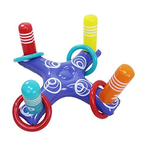Set Aufblasbare Wasser Kreuz Ring Pädagogisches Spielzeug für Indoor Outdoor Familie Geburtstagsfeier ()