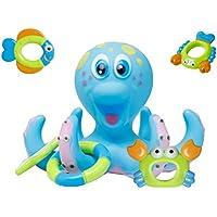 TOYMYTOY Juguete baño bebé pulpo Juguete de baño para bebés niños Infantil (Azul)