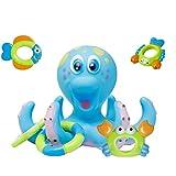 TOYMYTOY Wasser Spielzeug Badewanne Baby Kinder Krake Octopus Badewannenspielzeug Dusche Spiel (Blau)