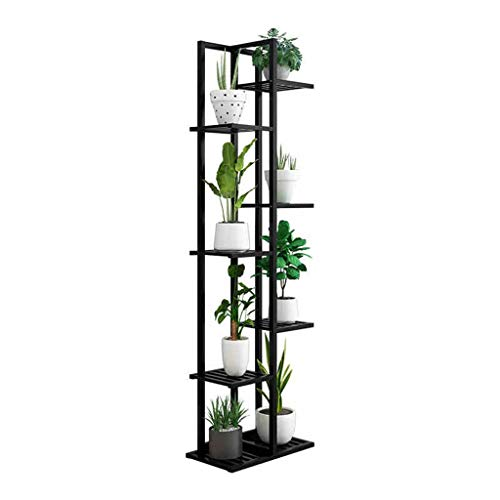 DE Blumenständer Massivholz Innen- und Außenkraut Wohnzimmer Balkon einfache mehrschichtige bodenstehende Raumdekoration Blumentopf Rack Pflanzenständer (Size : S) -