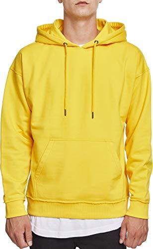 Urban Classics Herren Kapuzenpullover Oversized Sweat Hoodie,Gelb (chrome yellow), 4XL