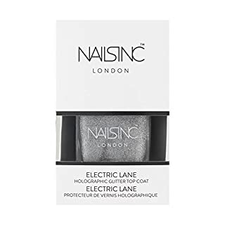 Nails Inc Electric Lane, Holographic Glitter Top Coat