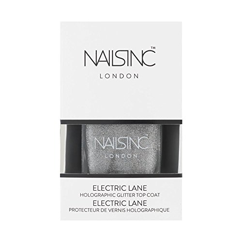 Nails Inc Vernis à ongles top coat, Electric Lane Holographic