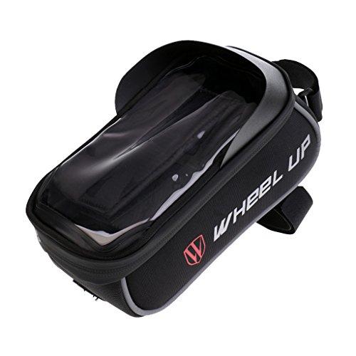 Gazechimp Radfahren Fahrrad Rahmen Rohr Wasserdichte Handy Tasche Telefon Tasche Schwarz