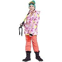 Gski Chica Chaqueta Y Pantalones De Esquí Resistente Al Viento, Templado, Ventilación Esquí/Deportes Múltiples/Deportes De Nieve Poliéster, Prendas Ropa De Esquí,Invierno,A+Orange,146/152