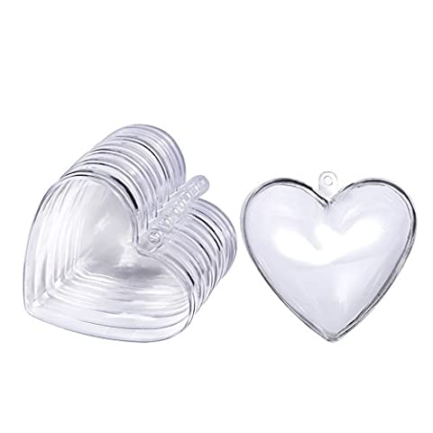 Outus Bath Bomb Mold Box Fillable Ornaments Heart Shape for