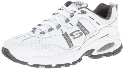 Skechers Sport Men's Vigor 2.0 Serpentine Memory Foam Sneaker,White/Charcoal,14 M US -