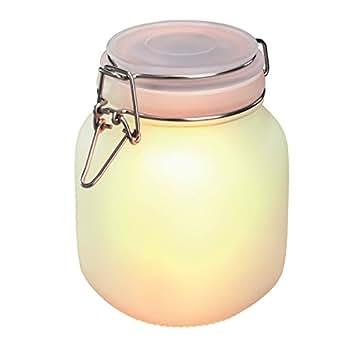 Esotec solarleuchte einmachglas satin glas lichtfarbe for Esotec solarleuchte