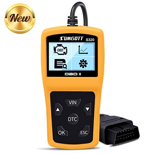 OBD2 Scanner, OBD2 Reader Professionelles Auto-Diagnosewerkzeug Fahrzeug-Fehlercode-Lesegerät mit Lese- und Lösch-Fehlercodes Unterstützung Mehrsprachig und Kfz-Prüfung Motorlichtfehler (Gelb)