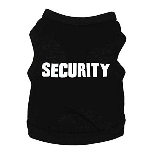 LA VIE Haustier Schwarzes T-Shirt SECURITY Hundekostüm Weiches -
