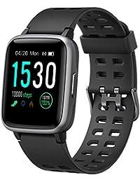 YAMAY Montre Connectée Femmes Homme Montre Intelligente Android iOS Smartwatch Vibrante Bracelet Connecté Cardio Montre Sport Etanche IP68 Fitness Tracker Podometre Marche Course à Pied Chronometre