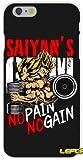 WRAP Coque iPhone 7 et iPhone 8 No Pain No Gain Son Goku Vegeta DBZ Muscu Musculation...
