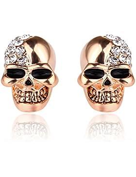 ein paar Herren Damen klassische Totenkopf Ohrstecker Schädel Skull Ohrringe , Punk Rock Stil Ohrhänger Ohrstecker...