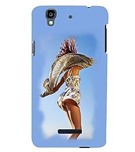 PRINTSWAG HAPPY GIRL Designer Back Cover Case for MICROMAX YU YUREKA PLUS