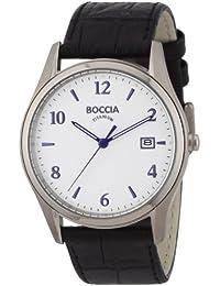 Boccia Men's Quartz Watch 3562-01 with Leather Strap