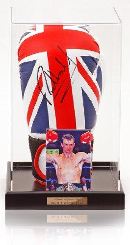 Woodhall Ritchie mano firmato, a forma di guantone da boxe con bandiera Union Jack