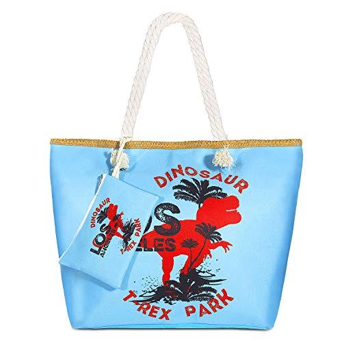 MOOKLIN Große Strandtasche mit Reißverschluss Sommer TascheVerschluss Damen Shopper Tasche Schultertasche Schwimmbad Badetasche Umhängetasche Beach Bag (10) 10 X Stroh