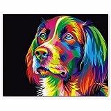 50x40CM ColorFul Puppy Dog Little Animal Pet DIY - Best Reviews Guide